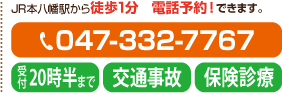 JR総武線下総中山駅から徒歩1分